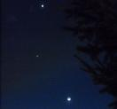 MOON-JUPITER-VENUS As seen after sunset in Portland, OR 24 March 2012