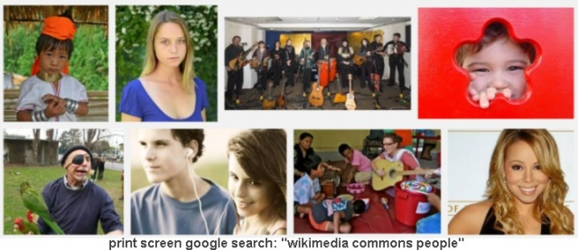 wiki commons people print screen