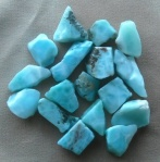 Larimar, also known as Dolphin Stone or Blue Pectolite